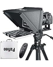 Tablet Teleprompter 13 inch Compatibel met iPad Pro 12.9, Pafieo S12 DSLR Camera Teleprompter met Afstandsbediening compatibel met Canon Nikon Sony, met Koffer