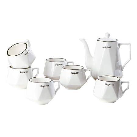 Juego de café francés, juego de tetera de taza de té de cerámica ...
