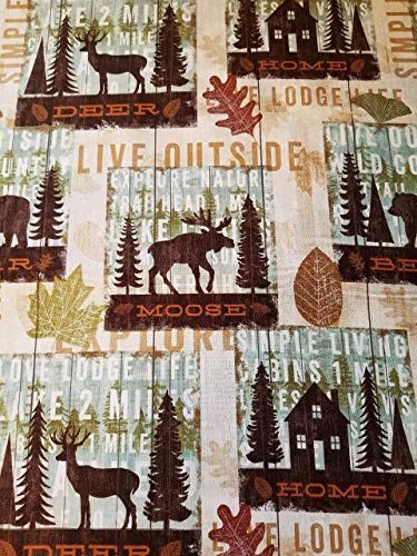 Rod Drapes Pocket Lodge (Moose Deer Outdoors Lodge Valance)