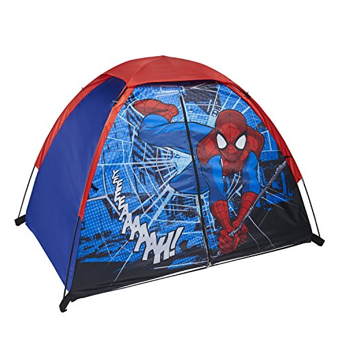 Exxel Outdoors Spiderman Play Tent, Red