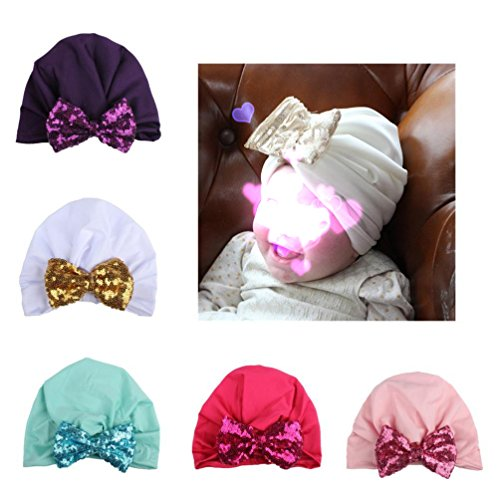 Satin Bow Fedora (Newest Toddlers Infant Baby Girl Hat Bow Headwear Hat Polyester Flower (Pink))