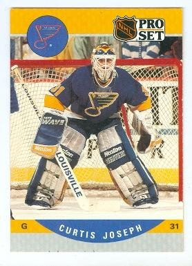 Curtis Joseph Hockey Card St Louis Blues 1990 Pro Set 638 Rookie