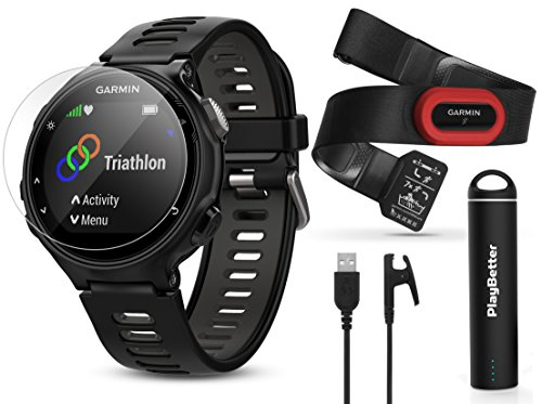 Garmin Forerunner 735XT (Black/Gray, Run-Bundle) Power Bundle | Includes HRM-Run Chest Strap, HD Glass Screen Protectors (x2) & PlayBetter Portable Charger | Multisport GPS Running Watch by PlayBetter (Image #9)