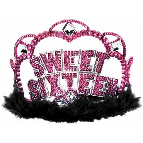 Amscan Sweet 16 Sparkle Tiara Party Supplies ()
