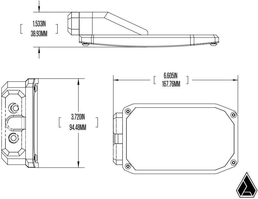 Pair 1.5 Clamps Assault Industries Phantom Convex Side Mirrors