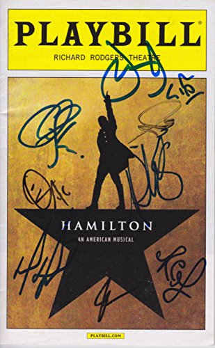 Hamilton signed Playbill (Hamilton Signed)