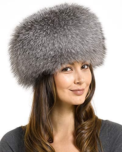 Zhivago Indigo Fox Fur Pill Box Hat - M