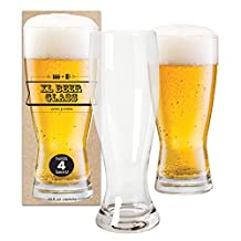 DCI XL Giant Beer Glass Holds 4 Beer Bottles, 52 oz Capacity
