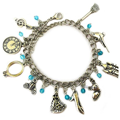 BlingSoul Cinderella Charm Bracelet - Costume Jewelry Merchandise Girls Women -