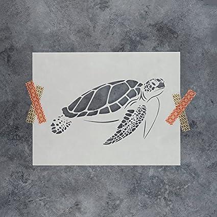 amazon com sea turtle stencil template reusable stencil with