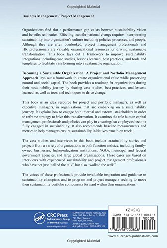 Becoming a Sustainable Organization: A Project and Portfolio ...