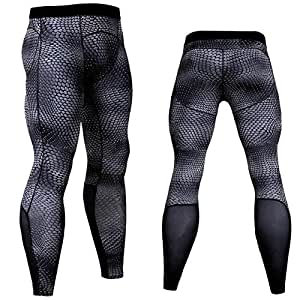 BEESCLOVER Jogging Pants Men Running Tights Gym Skinny Training Bodybuilding Fitness Sport Leggings Breathable Trousers Compression Pants KC-94 Jogging Pants S