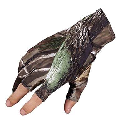 Elastic Fishing Gloves,Three Fingerless Anti-slip Waterproof Sport Hunting Gloves