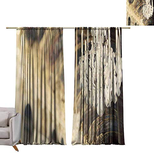 berrly Decorative Curtains for Living Room Chandelier in The Building W84 x L108 Customized Curtains