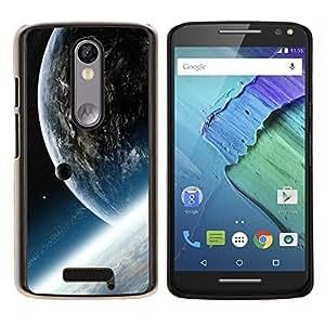EJOOY---Cubierta de la caja de protección para la piel dura ** Motorola Moto X3 3rd Generation ** --Espacio Planet Galaxy Estrellas 33