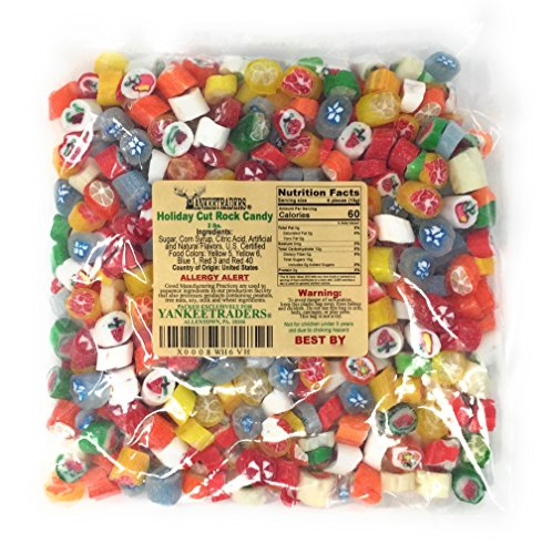 Holiday Cut Rock Candy, 2 LBS (Old Fashion Hard Candy)