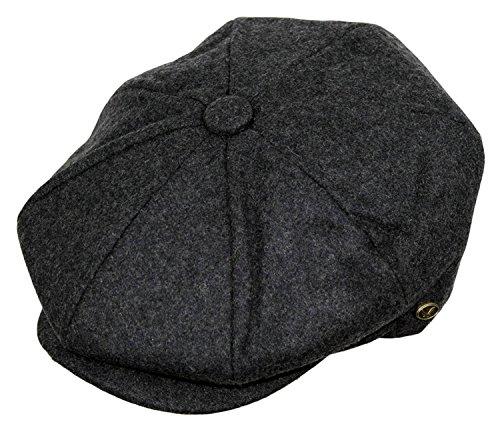 Wool Blend Snap - Epoch Men's Classic 8 Panel Wool Blend newsboy Snap Brim Collection Hat