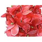 Phoenix-Silk-Orchid-Bundle-18-Artificial-Satin-Flowers-10-Bouquet-4340-CORAL