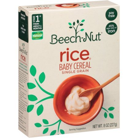 Beech-Nut Stage 1 Single Grain Rice Baby Cereal, 8 oz, 8 count