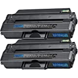 2 Replacement toner cartridges for Dell B1260dn / B1265dnf Toner Cartridge replacement for Dell 331-7328, Office Central