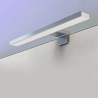 Badezimmerlampe Badlampe Spiegel Wand Schminklicht warmwei/ß IP44 BAYTTER 8W LED Spiegelleuchte Bilderleuchte Schranklampe Wandleuchte aus Aluminum silber