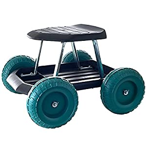 Amazoncom Garden Carts Work Seat Stool Scooter Rolling Wheel