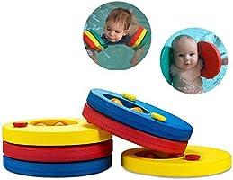 Aitsite Discos Flotantes, Manguitos de Natación Para Niños, Hechos de Espuma, Varios Colores, 6 Piezas