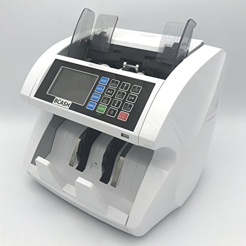 Cashier Counter (BCASH Mixed Denomination Dollar Bill Value Counter - Tells total amount and detail per denomination with high performance on counterfeit detection)