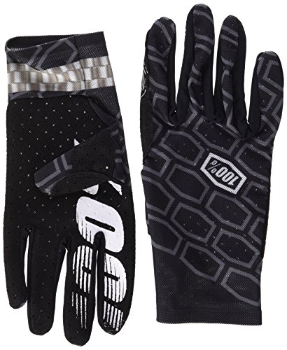 100% Celium Adult Leather/Textile Off-Road Motorcycle Gloves - Timing Black / X-Large