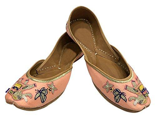 Punjabi Jutti Ballet Shoes Khussa Kurti Sandal Flat Step Wedding N Juti Ethnic Style FBqn4XwSxI