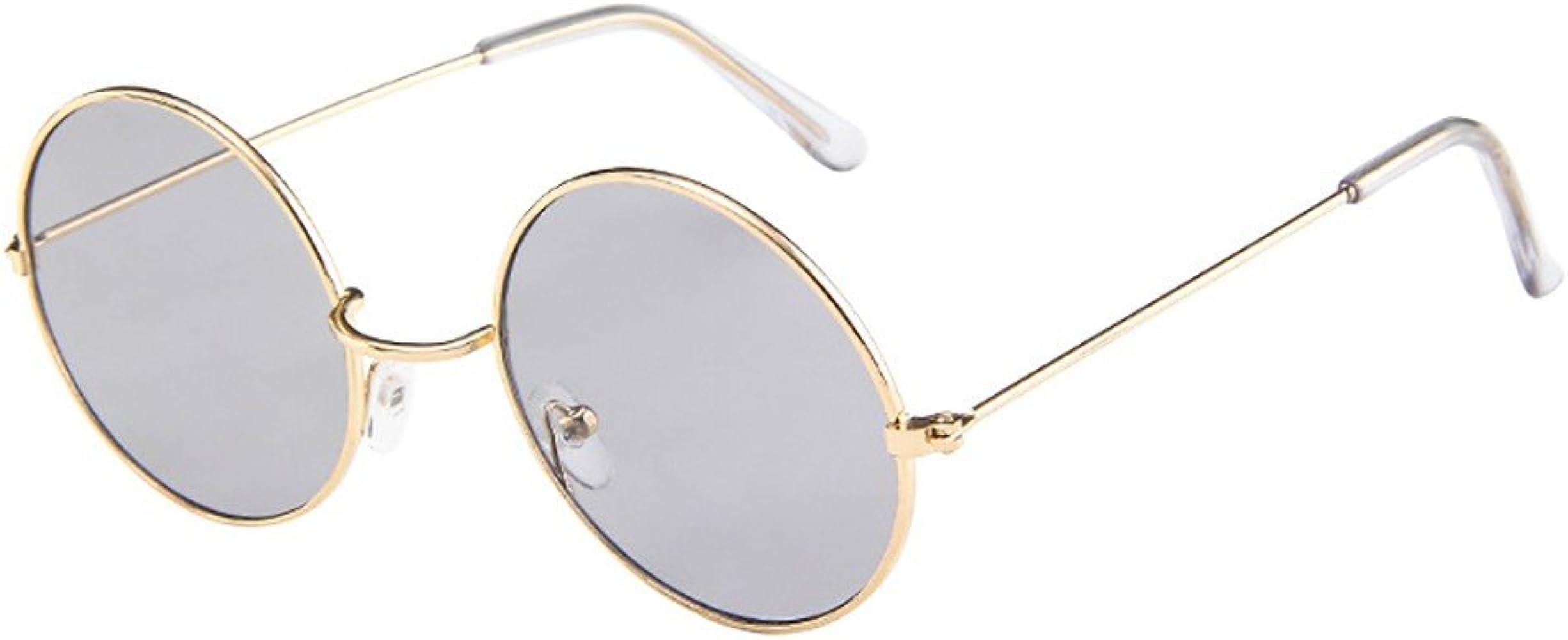 FORUU Glasses Men Women Square Vintage Mirrored Sunglasses Eyewear Outdoor Sports
