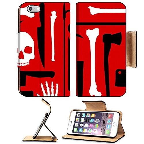 MSD Premium Apple iPhone 6 Plus iPhone 6S Plus Flip Pu Leather Wallet Case iPhone6 Plus IMAGE ID: 5193770 Murder seamless (Crowbar Prop)