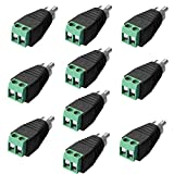 male phono plug - SIENOC 10pcs Phono RCA Male Plug to AV Screw Terminal Plug Connector
