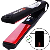 MONDAVA PROFESSIONAL 1'' Ceramic Tourmaline Ionic Flat Iron Hair Straightener – Exclusive Digital Technology, Straighten & Style Wild Hair Fast, Perfect Hairstyling Tool For All Types (PULSE Vibrating)