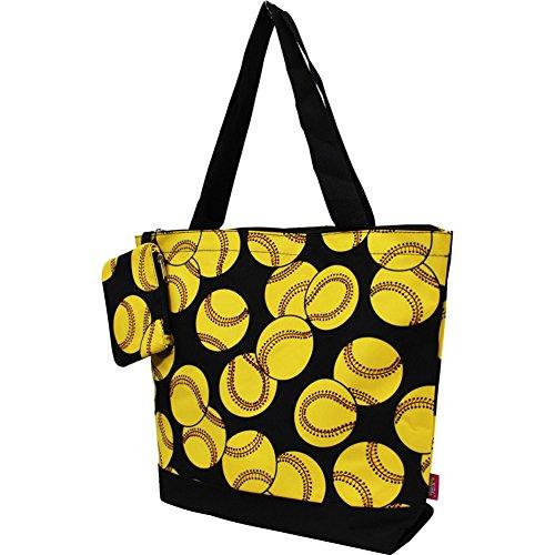 Softball Print NGIL Canvas Tote Bag