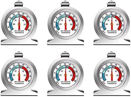 【Visualización clara de áreas de temperatura precisas】 El termómetro de cuadrante grande le permite