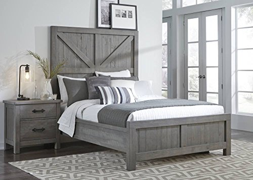 - Modus Furniture 9X13F6 Austin Panel Bed California King Rustic Gray
