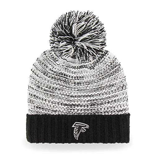 (OTS NFL Atlanta Falcons Female Sansa Cuff Knit Cap, Black, Women's)