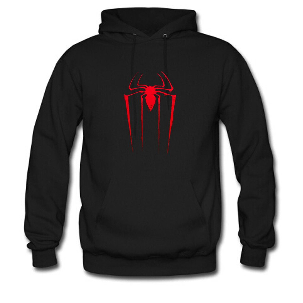 Custom Unisex Amazing Spiderman Hoodie Men's and Women's Sweatshirt US L Black Apparel B018L8NS7Y Rath-20705