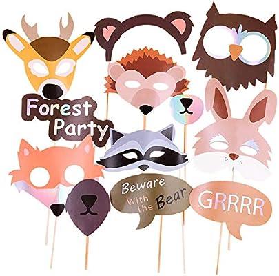 Amazon.com: Woodland Animals accesorios para cabina de fotos ...