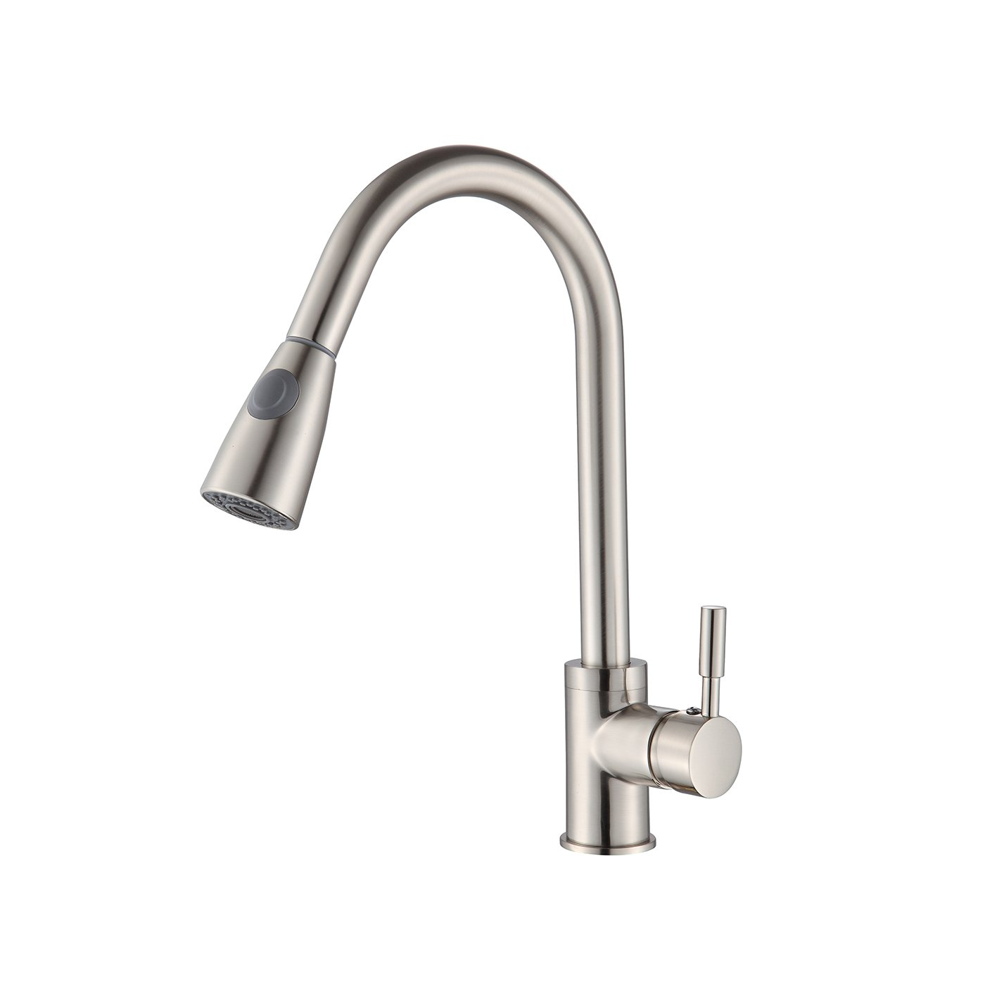 BuyHive Kitchen Faucet Brushed Nickel Pull Out Sprayer Commercial Home Sink Mixer Tap Single Handle
