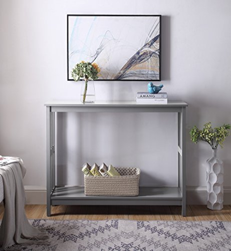 Convenience Concepts 203399GY Console Table Gray