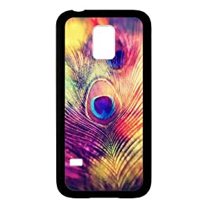 SamSung Galaxy S5 mini Case,Colorful Peacock Feather Hign Definition Wonderful Design Cover With Hign Quality Rubber Plastic Protection Case
