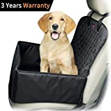 Yitour Car Seat Covers for Dogs Jeep Front Seat Cover for Large Small Medium Pet,Vehicle Back Booster Carrier, Deluxe 900 Oxford,Waterproof Protector Black for Van SUV Seats with Safety Zipper Belt For Sale