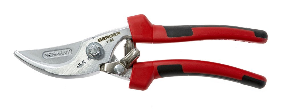 Berger Tools Berger #1766 Pruning Shear with Multi-Component Handle, Red/Black