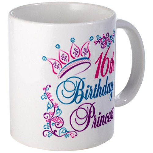 CafePress - 16th Birthday Princess Mug - Unique Coffee Mug, 11oz Coffee Cup (Teapot With Crown Design compare prices)