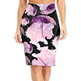 Qi8A Skirts Squirrel With Glass Funny Women Slim Pencil Skirts Elastic High Print Long Skirts Skirts