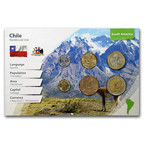 CL 2018 Chile 1 Peso - 500 Pesos 6-Coin Set BU (Landscape Packaging) Brilliant Uncirculated ()