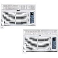 Haier HWR06XCR 6,000 BTU 115V Electric Window Air Conditioner AC Unit (2 Pack)