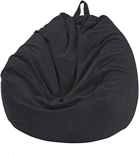 Bean Bag Chair Cover, Stuffable Zipper Beanbag for Organizing Children Plush Toys No Filler , Soft Removable Washable Slipcover for Most Bean Bag Sofa 33.46X39.37in